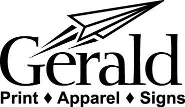 gerald print apparel signs
